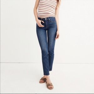 MADEWELL Slim Straight Jeans in Hammond Wash 25